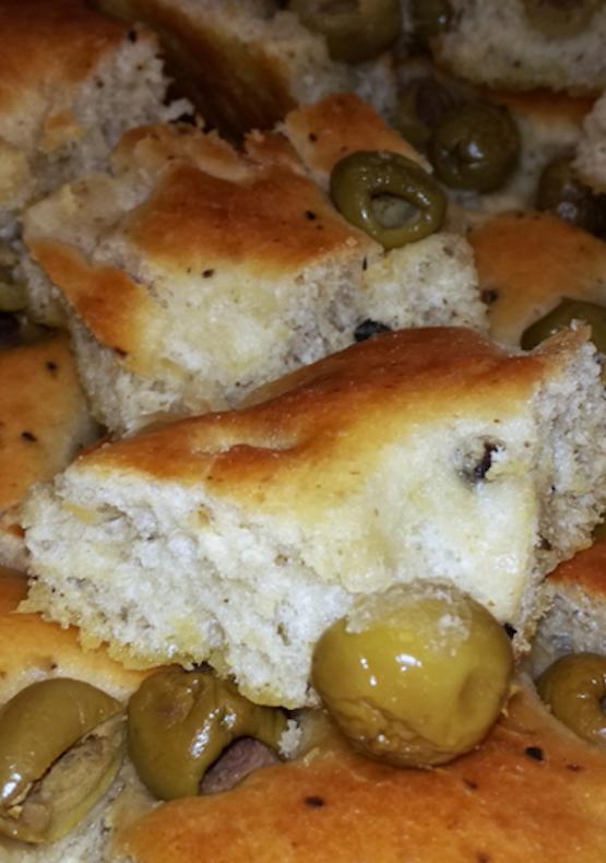 focaccia - olive - genova